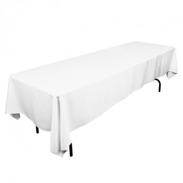 "Polyester Tablecloth - 60"" x 120"" - White"