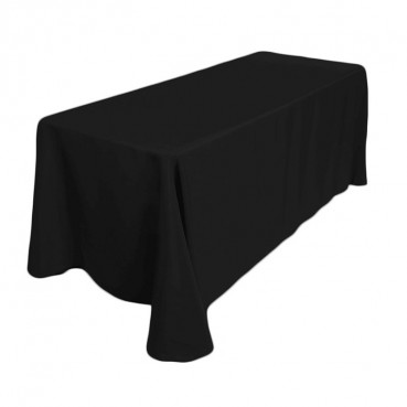 "Polyester Tablecloth - 90"" x 132"" - Black"