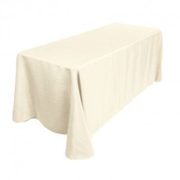 "Polyester Tablecloth - 90"" x 132"" - Ivory"