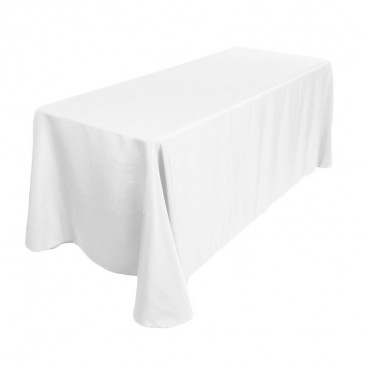 "Polyester Tablecloth - 90"" x 132"" - White"