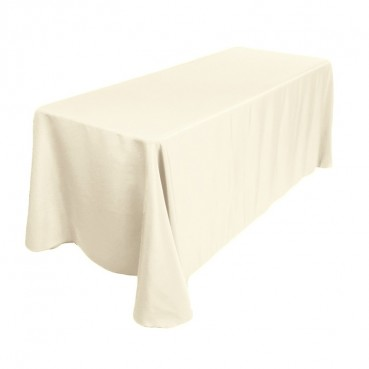 "Polyester Tablecloth - 90"" x 156"" - Ivory"