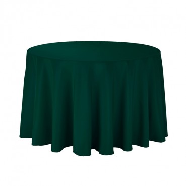 "Polyester Tablecloth - 108"" Round - Hunter"