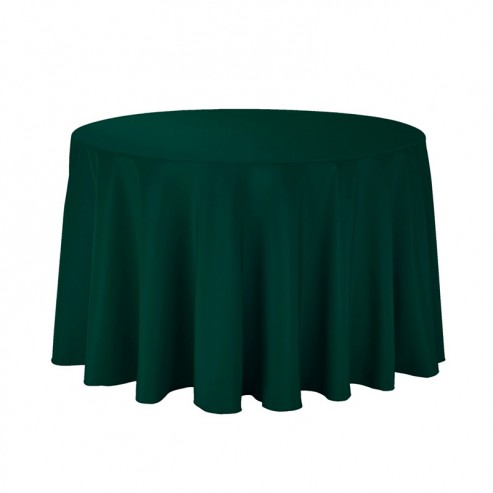 Polyester Tablecloth 108 Quot Round Hunter Green