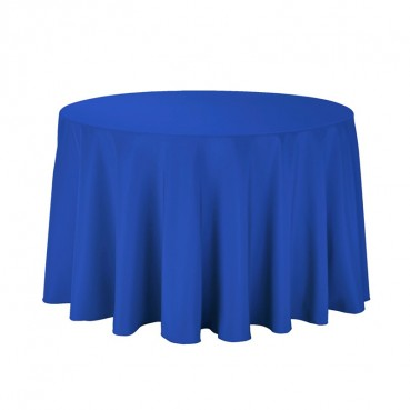 "Polyester Tablecloth - 108"" Round - Royal"