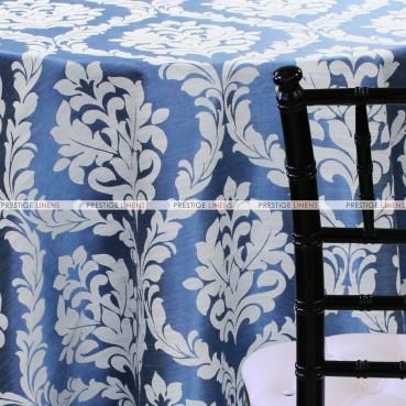 Classic Damask Table Linen - Blue