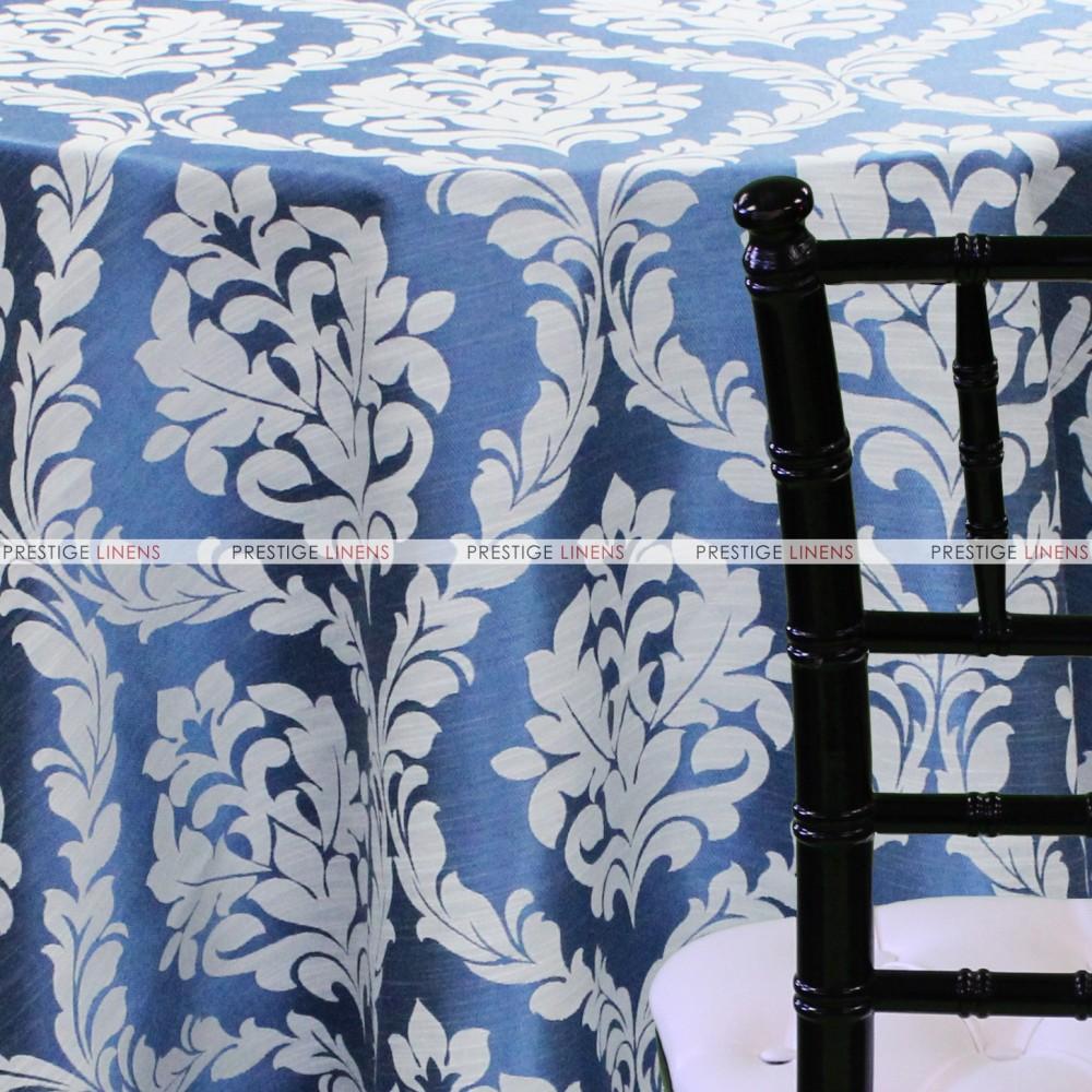 Classic Damask Table Linen   Blue ...