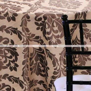 Classic Damask Table Linen - Copper
