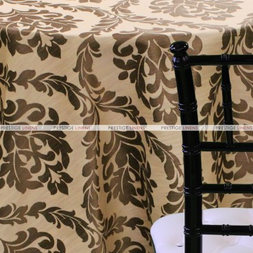 Classic Damask Table Linen - Terracotta