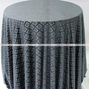 Sheer Illusion Table Linen - Diamond - Charcoal