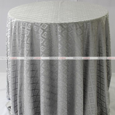 Sheer Illusion Table Linen - Diamond - Grey