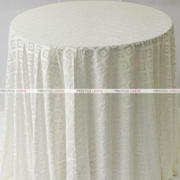 Sheer Illusion Table Linen - Diamond - Ivory