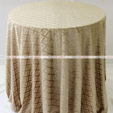 Sheer Illusion Table Linen - Diamond - Tan