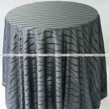 Sheer Illusion Table Linen - Swirl - Charcoal