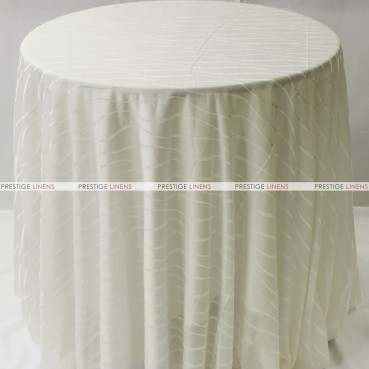Sheer Illusion Table Linen - Swirl - Ivory