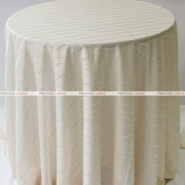 Sheer Illusion Table Linen - Swirl - Natural