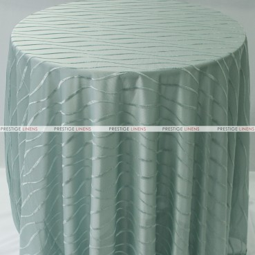 Sheer Illusion Table Linen - Swirl - Spa