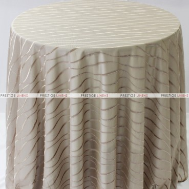 Sheer Illusion Table Linen - Swirl - Tan