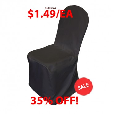Polyester Banquet Chair Cover - Black