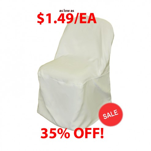 Excellent Polyester Folding Chair Cover Ivory Camellatalisay Diy Chair Ideas Camellatalisaycom