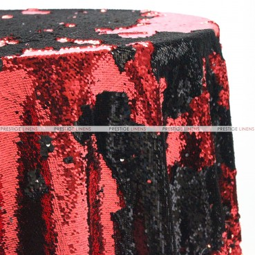 Chameleon Sequins Table Linen - Black Red