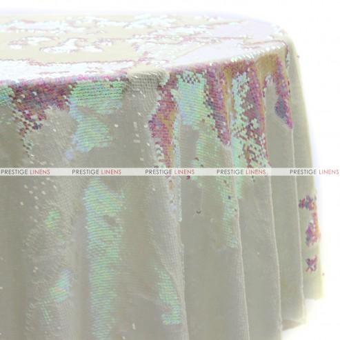 Chameleon Sequins Table Linen - Dull White Pearl