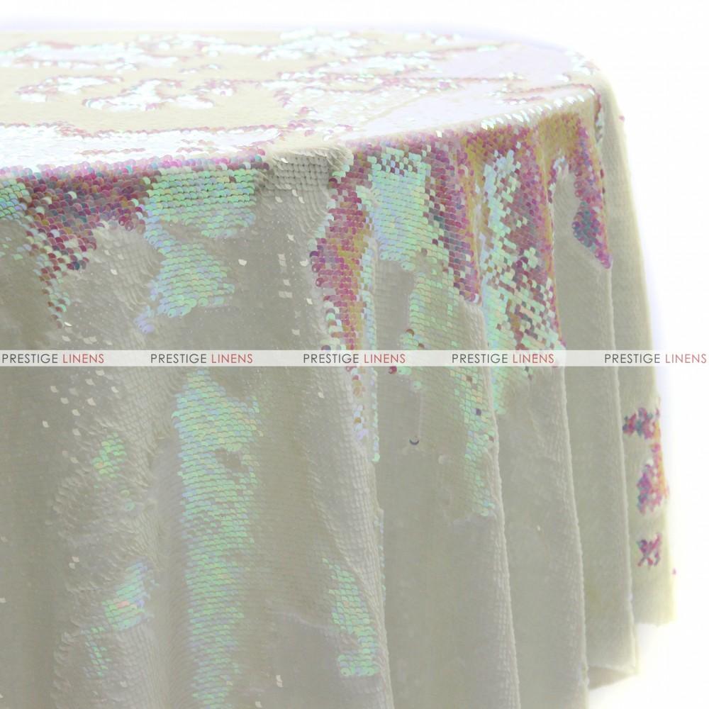 Chameleon Sequins Table Linen   Dull White Pearl ...