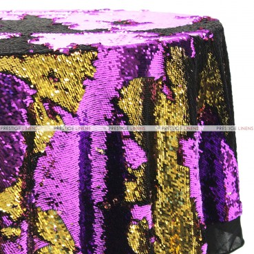 Chameleon Sequins Table Linen - Gold Purple