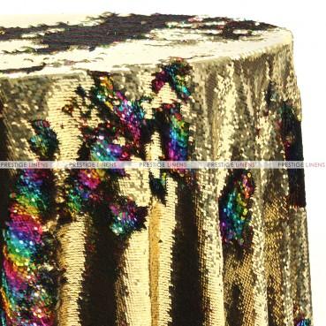Chameleon Sequins Table Linen - Gold Rainbow