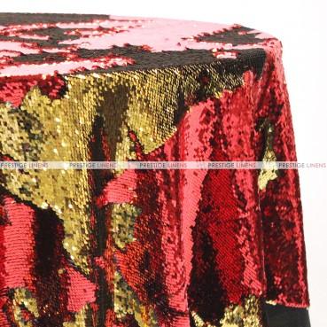Chameleon Sequins Table Linen - Gold Red