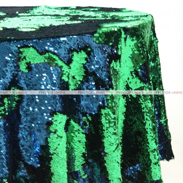 Chameleon Sequins Table Linen - Green Turquoise