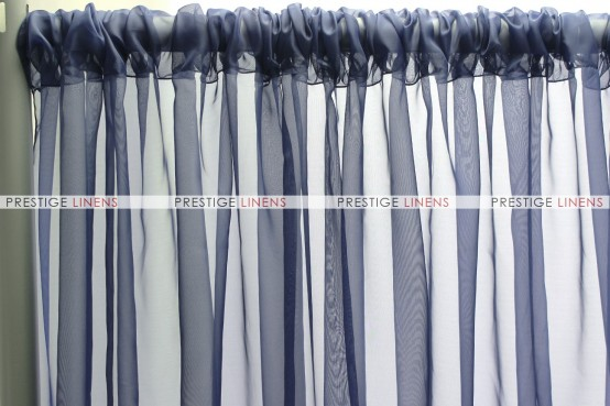 Voile Draping - Navy