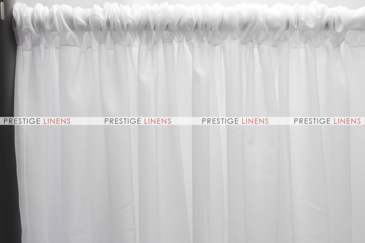 Voile Draping - White