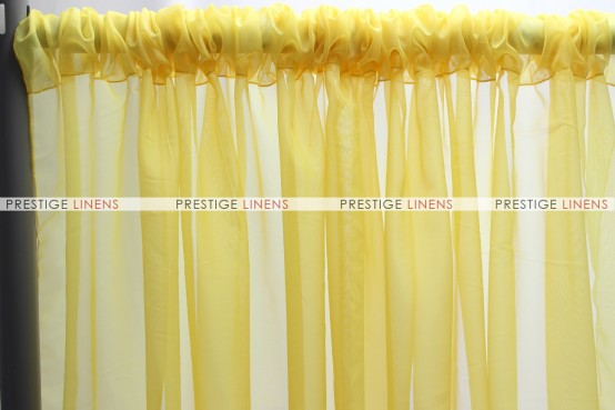 Voile Draping - Yellow