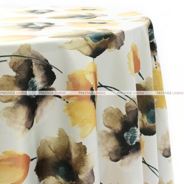 HIBISCUS TABLE LINEN - BROWN