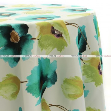 HIBISCUS TABLE LINEN - TURQUOISE