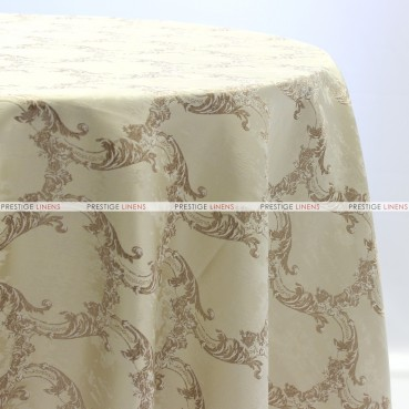 BEETHOVEN DAMASK TABLE LINEN - IVORY
