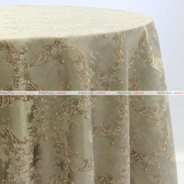 BEETHOVEN DAMASK TABLE LINEN - MOCHA