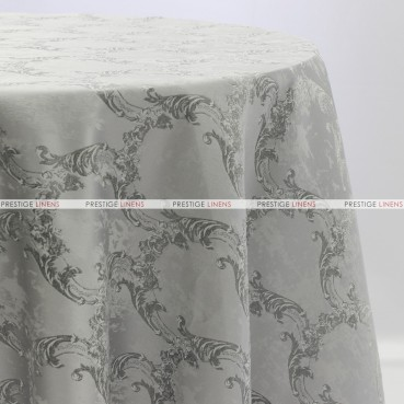 BEETHOVEN DAMASK TABLE LINEN - SILVER