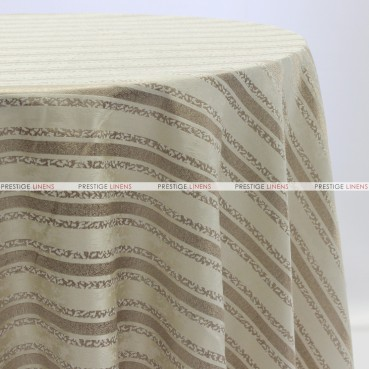 BEETHOVEN STRIPE TABLE LINEN - IVORY
