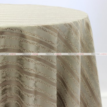 BEETHOVEN STRIPE TABLE LINEN - MOCHA