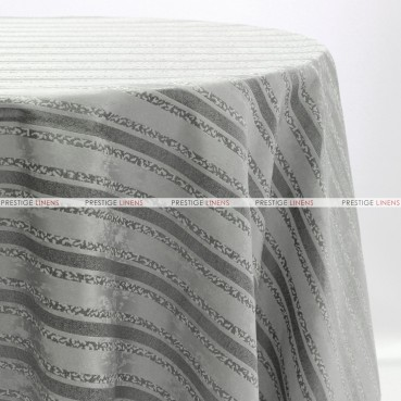 BEETHOVEN STRIPE TABLE LINEN - SILVER