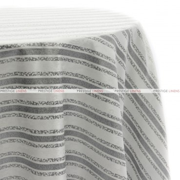 BEETHOVEN STRIPE TABLE LINEN - STERLING