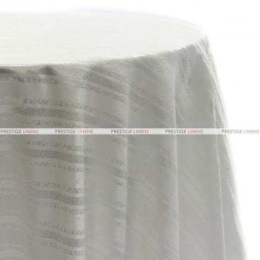 BEETHOVEN STRIPE TABLE LINEN - WHITE