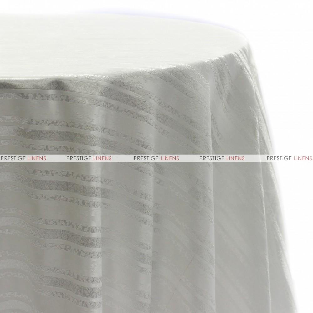 Beethoven Stripe Table Linen White Prestige Linens