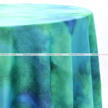 TIE DYE TABLE LINEN - TURQUOISE