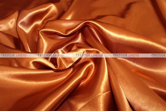 Bridal Satin Table Skirting - 337 Rust