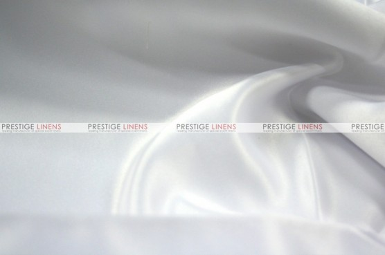 Lamour Matte Satin Table Skirting - 126 White