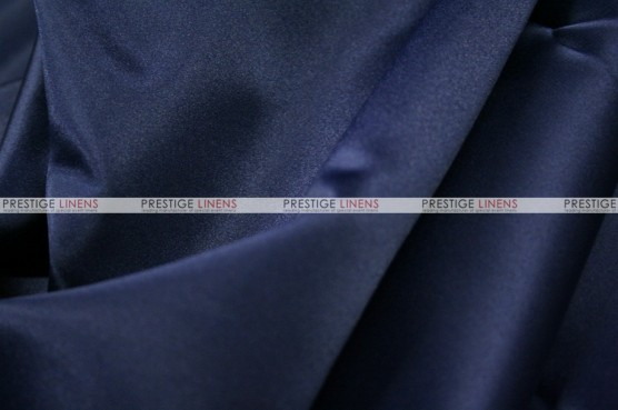 Lamour Matte Satin Table Skirting - 934 Navy