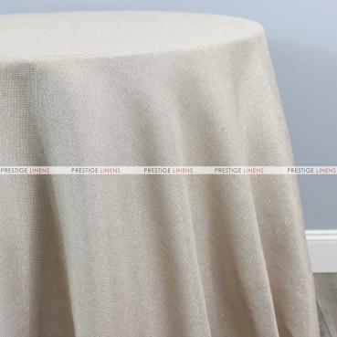 Vintage Linen Metallic Table Linen - Champagne