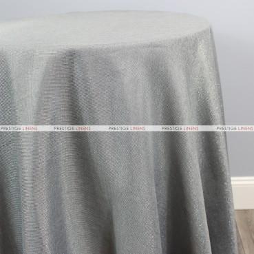 Vintage Linen Metallic Table Linen - Silver